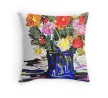 An Arrangement / homage to spring  Throw Pillow