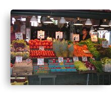 Color in Pike Place Market Canvas Print