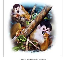 RED-BACKED SQUIRREL MONKEY by DilettantO