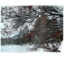 Cathedral Rock Mist in the Garden of the Gods Poster