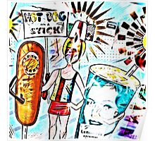 Hot Dog on a Stick! Poster