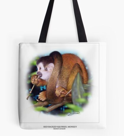 RED-BACKED SQUIRREL MONKEY 5 Tote Bag