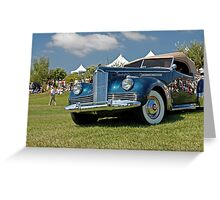 1942 Packard 180 Darrin Convertible Coupe Greeting Card