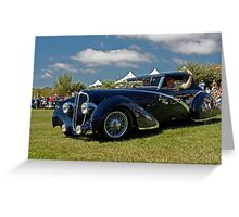 1936 Delahaye Convertible Coupe Greeting Card