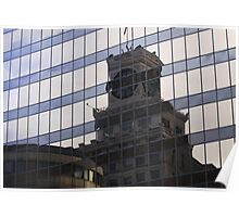 Vintage architectural reflections Poster