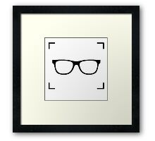 Nerd Behind The Camera (logo only) Framed Print