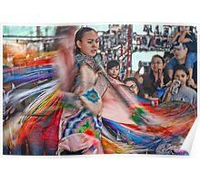 Fancy Shawl  Dance (Pow Wow Series) Poster