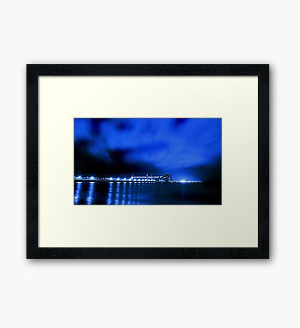 Kwinana Grain Jetty At Night  Framed Print