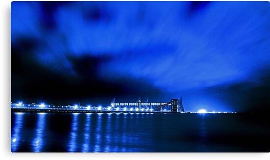 Kwinana Grain Jetty At Night  by EOS20