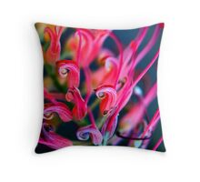 Rainbow Grevillea Throw Pillow