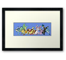 pokemon eevee espeon umbreon sylveon glaceon chibi anime shirt Framed Print