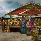 City - Lexington market, Baltimore, Maryland 1890 by Mike  Savad