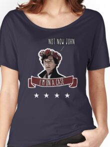 Sherlock on a case Women's Relaxed Fit T-Shirt
