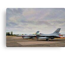 F-16's Canvas Print