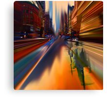 Late for work! Canvas Print