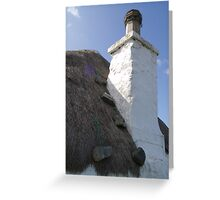 little white thatch Greeting Card