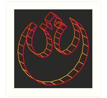 Rebel Alliance 3D Intense Art Print