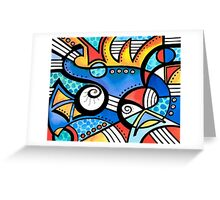 Lynne Neuman Abstract #et0104 Greeting Card