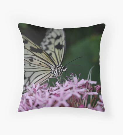 BUTTERFLY FARM Throw Pillow
