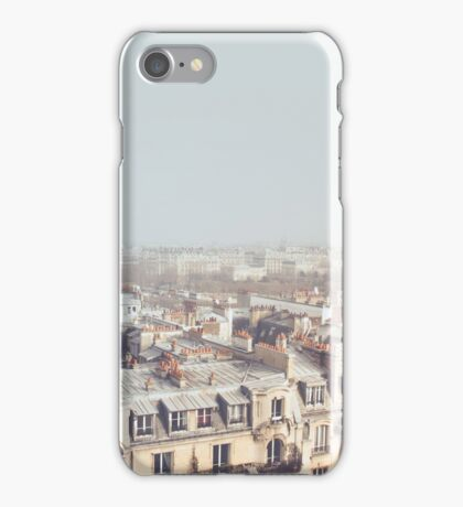 Paris Morning Rooftops iPhone Case/Skin