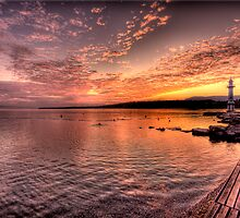 Sunrise Over Lake Geneva by David Freeman