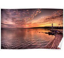 Sunrise Over Lake Geneva Poster