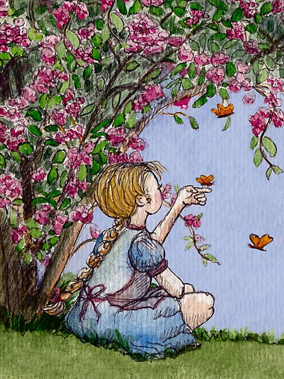 sitting with the butterflies by vian