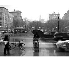 Union Square in the rain Photographic Print