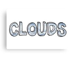 Clouds - One Direction Canvas Print
