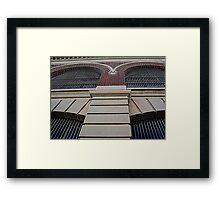 Facade Fractal Framed Print