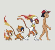 pokemon ash chimchar monferno infernape anime shirt by JordanReaps