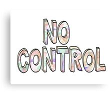 No Control - One Direction Canvas Print