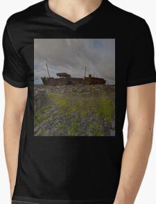 The Plassey - a wrectangular view Mens V-Neck T-Shirt