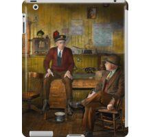 Firemen - Sharing his wisdom - 1942 iPad Case/Skin