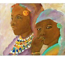 massai mother and child Photographic Print