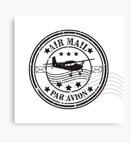 Vector grunge air mail  Canvas Print