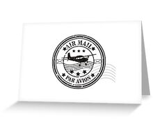 Vector grunge air mail  Greeting Card