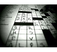 Crossword Mania Photographic Print