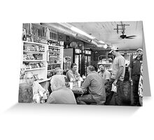 Eating Lunch at Depot Bottom Country Store Greeting Card
