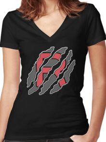 RocketRIPP - RIPPTee Designs. Women's Fitted V-Neck T-Shirt