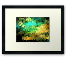 neonflash abstract pixel art Framed Print