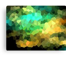 neonflash abstract pixel art Canvas Print