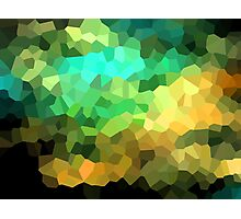 neonflash abstract pixel art Photographic Print