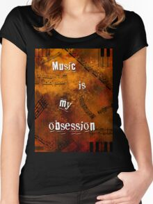 Music is my obsession Women's Fitted Scoop T-Shirt