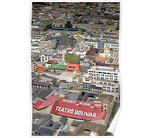 Teatro Bolivar Overview - Maqueta by Guido Falcony. Poster