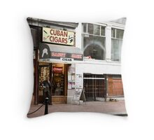 Gastown Cigar Shop Throw Pillow