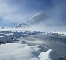 Buachaille Etive Mhor and Winter Snow, Glen Coe,Scotland. by photosecosse /barbara jones