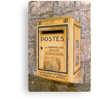 French mailbox Canvas Print