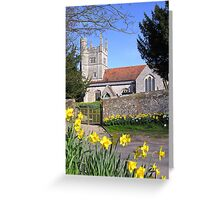 Easter time at All Saints, Barton Stacey, Hampshire, southern England. Greeting Card
