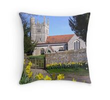 Easter time at All Saints, Barton Stacey, Hampshire, southern England. Throw Pillow